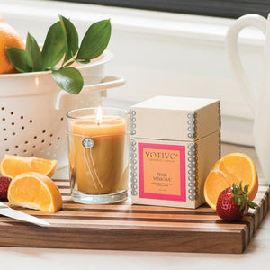Pink Mimosa Aromatic Candle