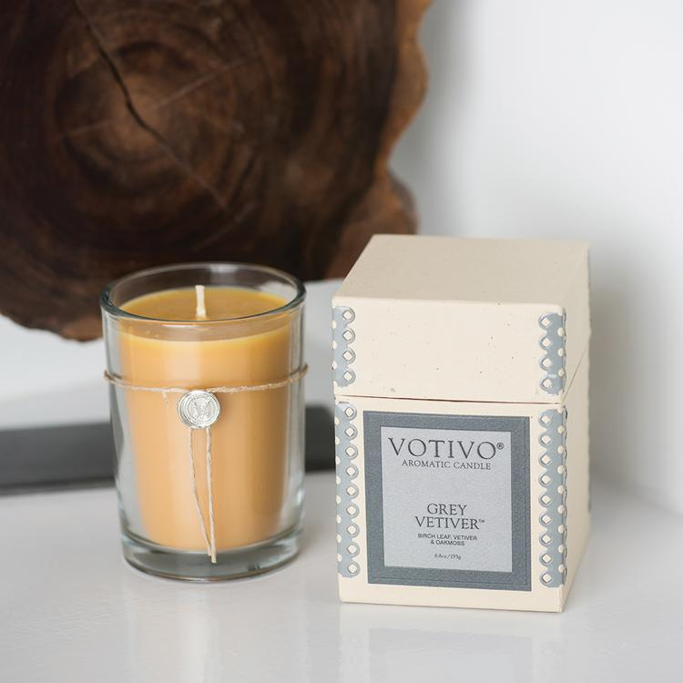 Grey Vetiver Aromatic Candle
