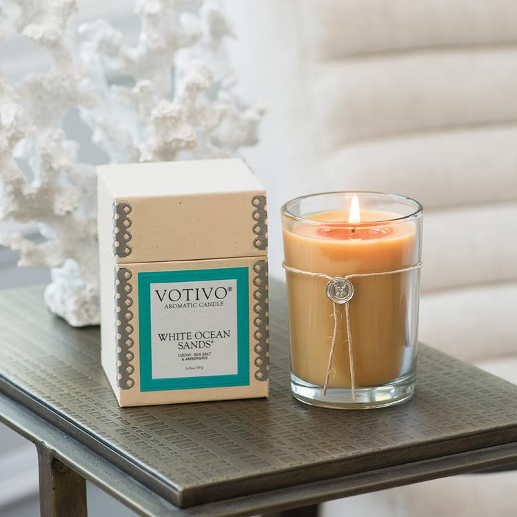 White Ocean Sands Aromatic Candle