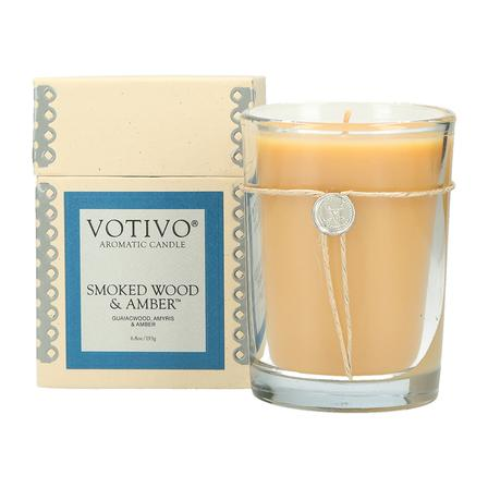 Smoked Wood & Amber Aromatic Candle