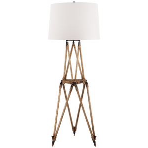 Quincy Floor Lamp in Vintage Oak