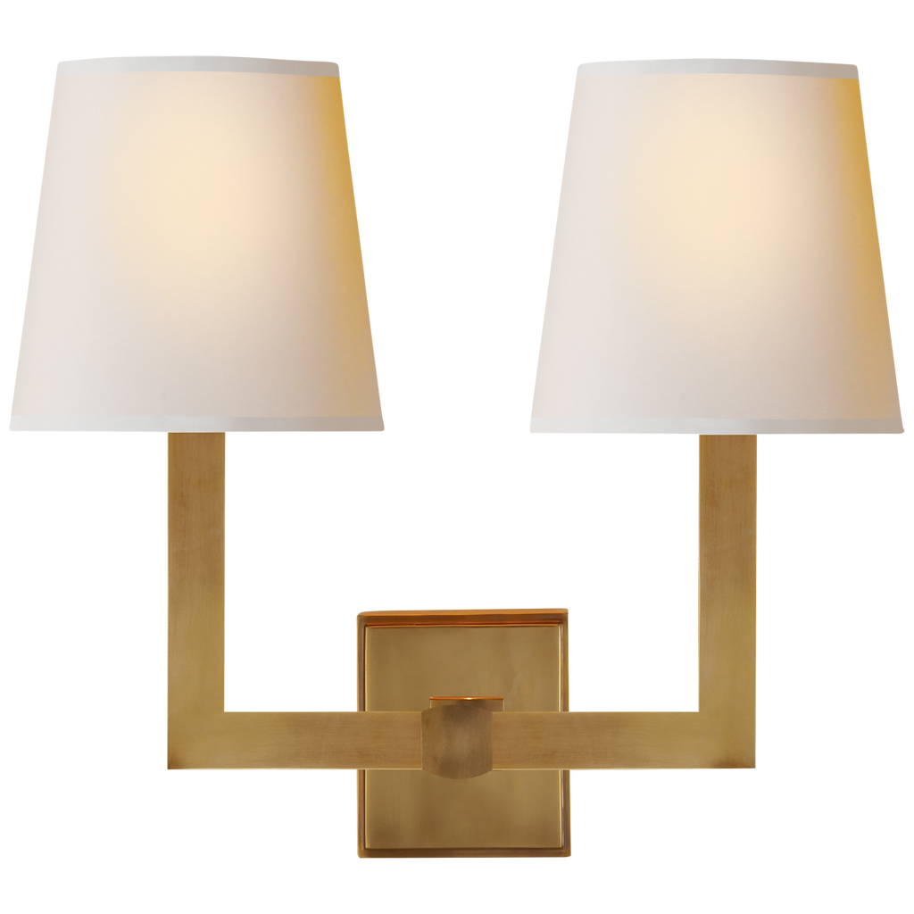 Square Tube Double Sconce