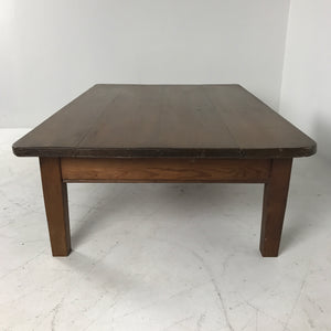 English Pine Work Table Cut to Coffee Table c1890