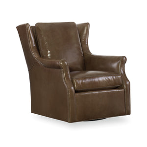 Herringer Leather Swivel Glider Chair