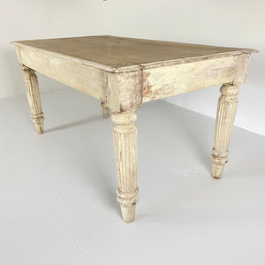 White Wash British Colonial Table c1890