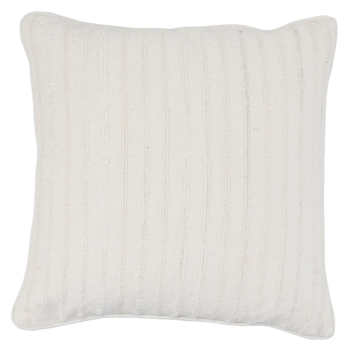 "Morris Linen White 22"" Pillow"