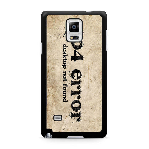 404 Error Samsung Galaxy Note 4 3 2 Case