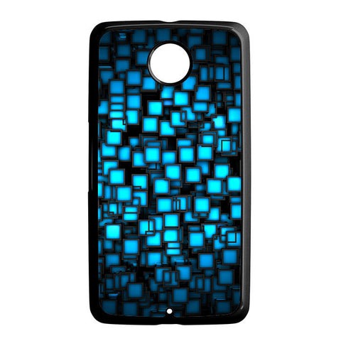 Abstract Blue Glowing Nexus 6 5 4 8 5X Case