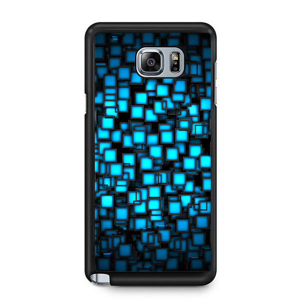 Abstract Blue Glowing Samsung Galaxy Note 5 7 5 Edge | Edge Case