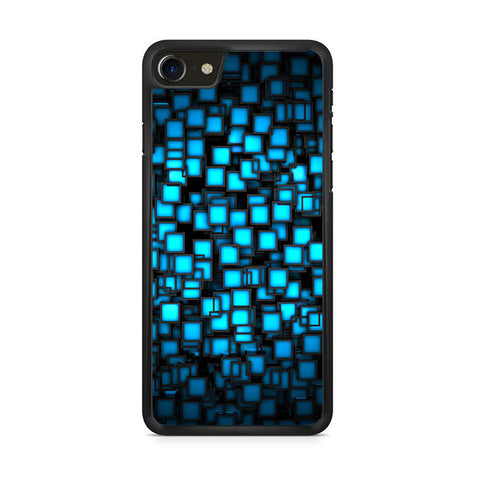 Abstract Blue Glowing iPhone 8 Case