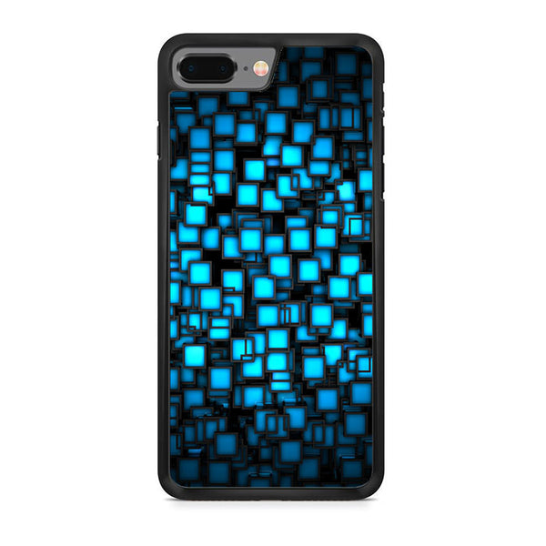 Abstract Blue Glowing iPhone 8 Plus Case