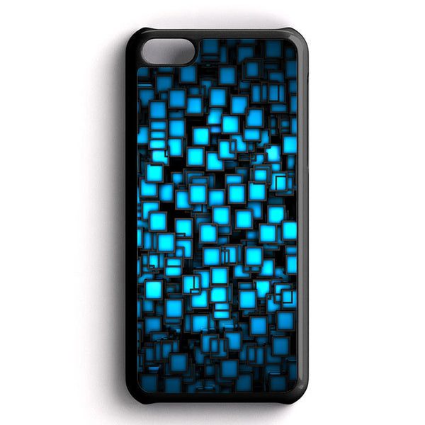 Abstract Blue Glowing iPhone 5C Case