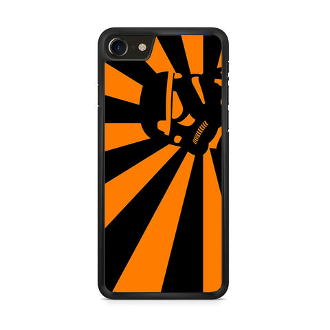 Abstract Vader Star Wars Orange iPhone 8 Case