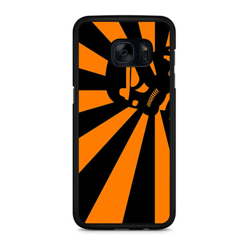 Abstract Vader Star Wars Orange Samsung Galaxy S7 | S7 Edge Case