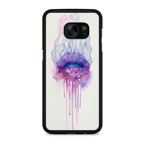 Acuarela Lips Art Samsung Galaxy S7 | S7 Edge Case