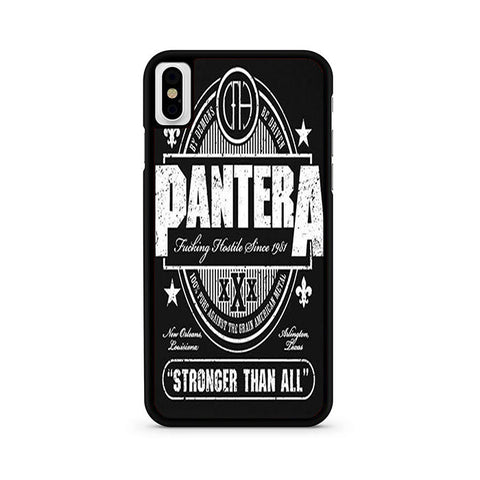 Pantera Stronger Than All iPhone X Case