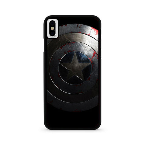 Silver Captain America iPhone X Case