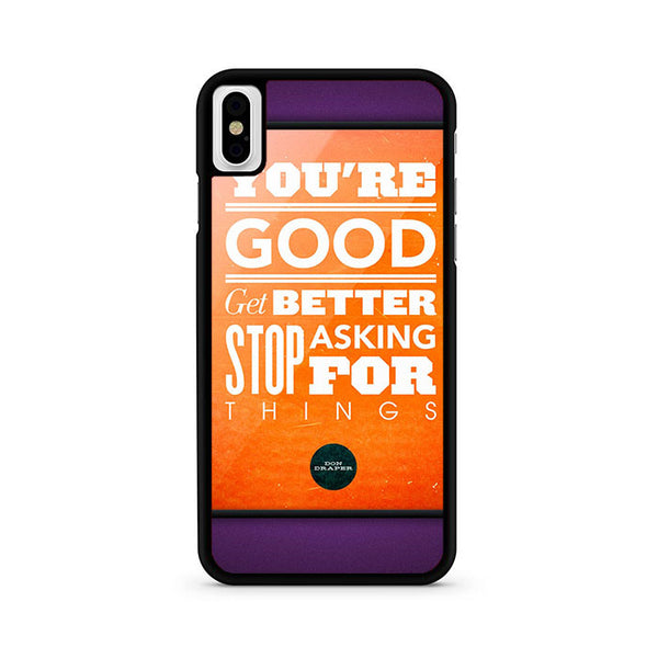 Your Good Better iPhone X Case