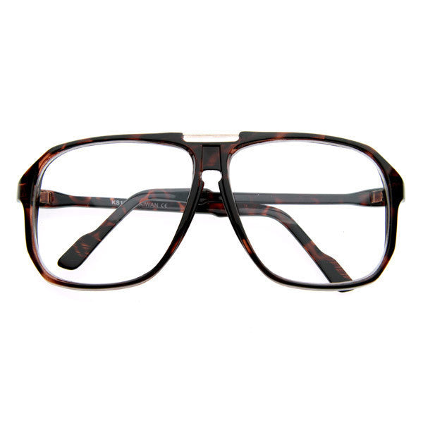 Dad Reader Clear Aviator Glasses