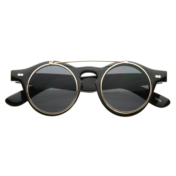 Retro Vintage Steam Round Sunglasses