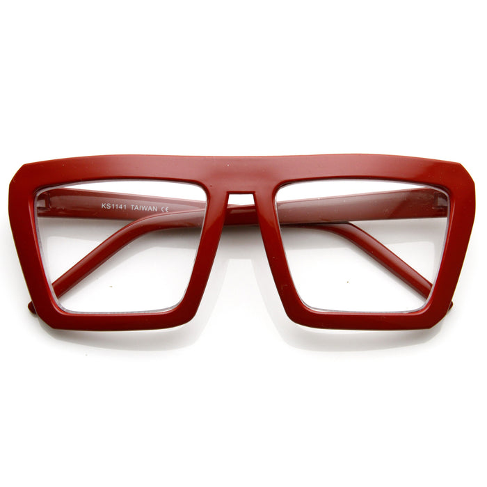 Retro Squared Clear Glasses