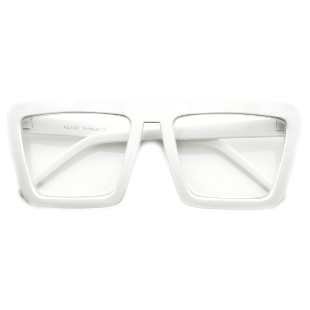 Retro Squared Clear Glasses - We Heart Sunglasses