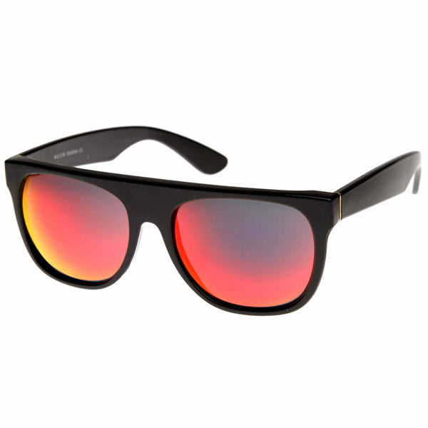 Flat Top Revo Sunglasses - We Heart Sunglasses