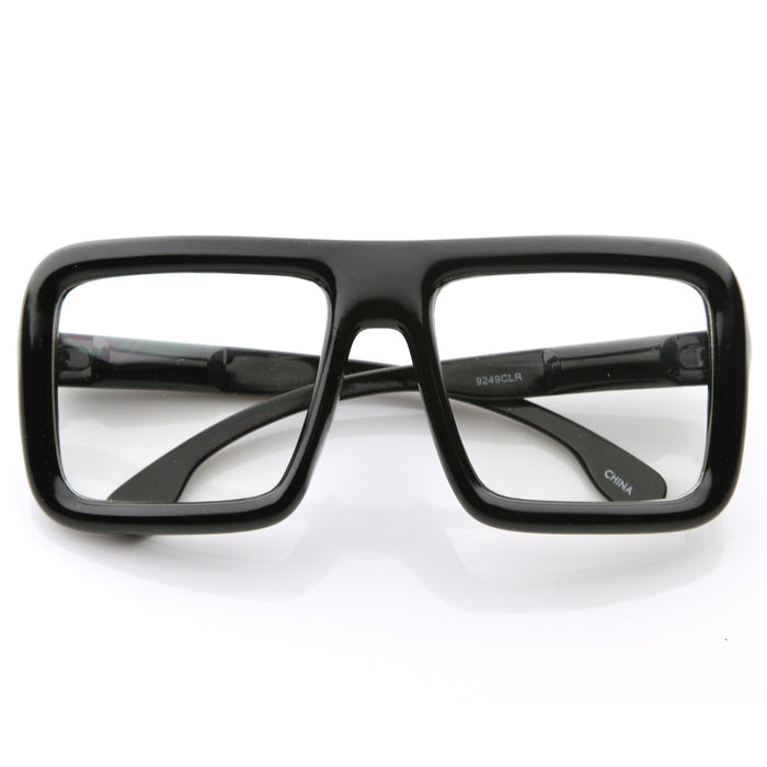 Oversized Retro Clear Square Glasses