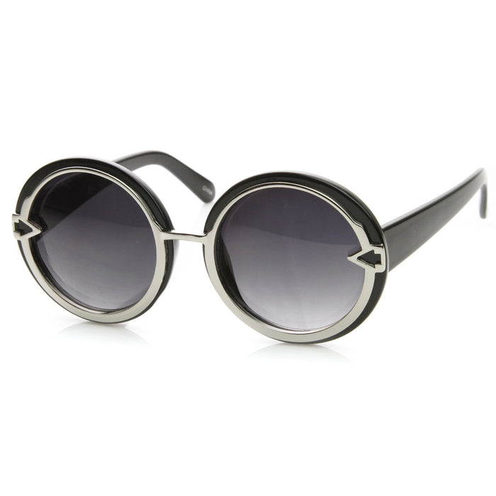 Round Arrow Vintage Sunglasses - We Heart Sunglasses