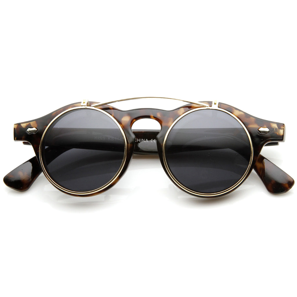 Retro Vintage Steam Round Sunglasses - We Heart Sunglasses