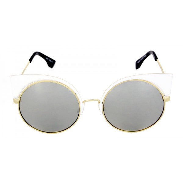 Metal Modern Cat Eye Sunglasses - We Heart Sunglasses