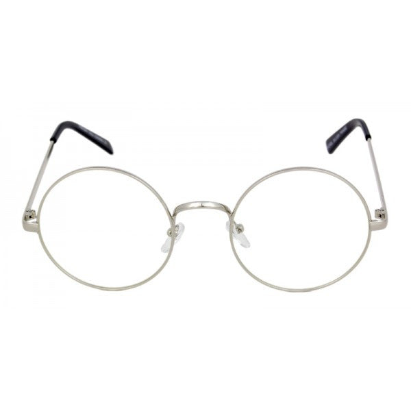 Round Metal Clear Glasses