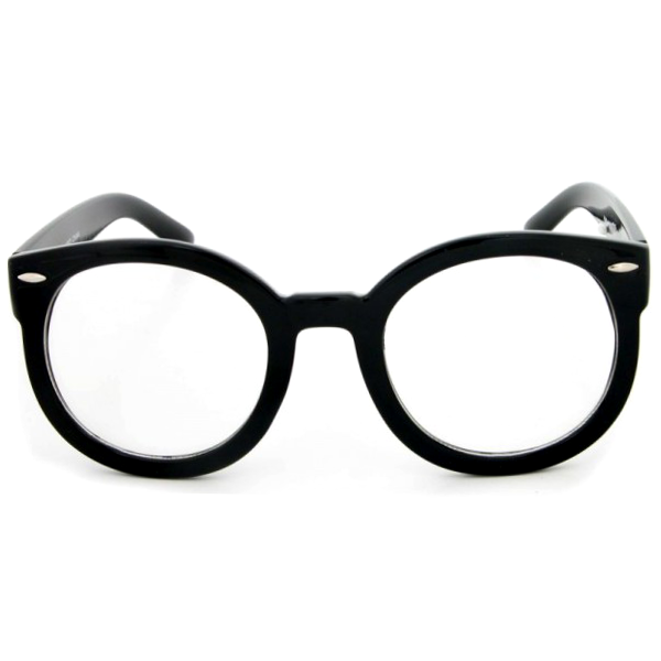 Round Nerd Clear Glasses - We Heart Sunglasses