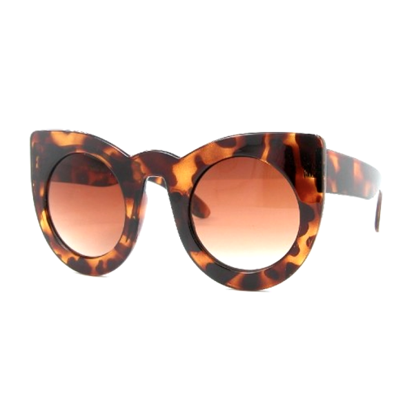 Oversized Round Cat Eye Sunglasses