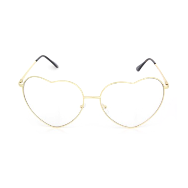Oversized Heart Metal Glasses