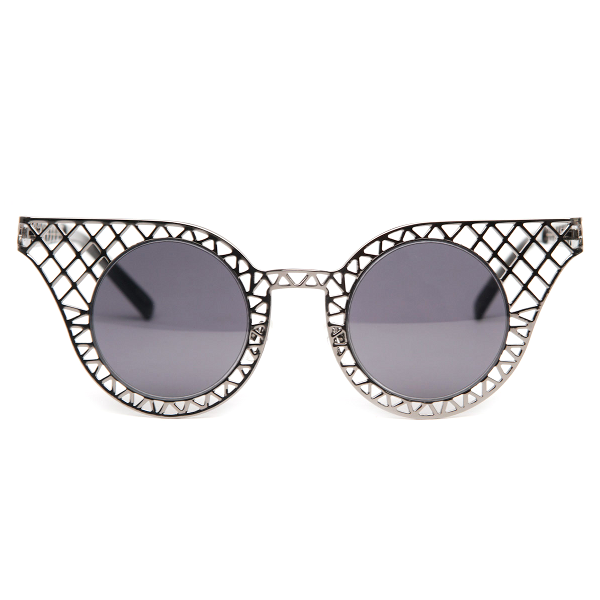 Mesh Cat Eye Grid Sunglasses