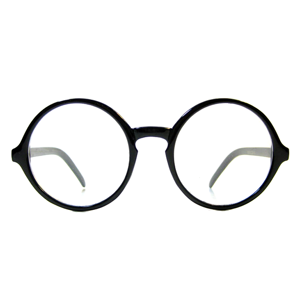 Round Vintage Wizard Retro Clear Glasses - We Heart Sunglasses