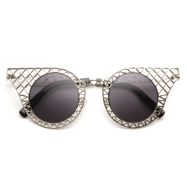Mesh Cat Eye Grid Sunglasses - We Heart Sunglasses