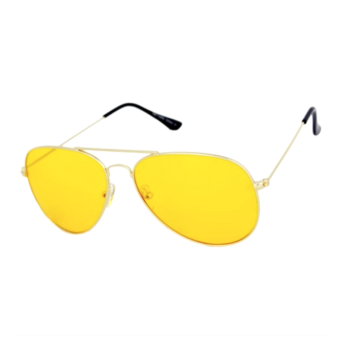 Yellow See-Through Aviator Modern Glasses - We Heart Sunglasses
