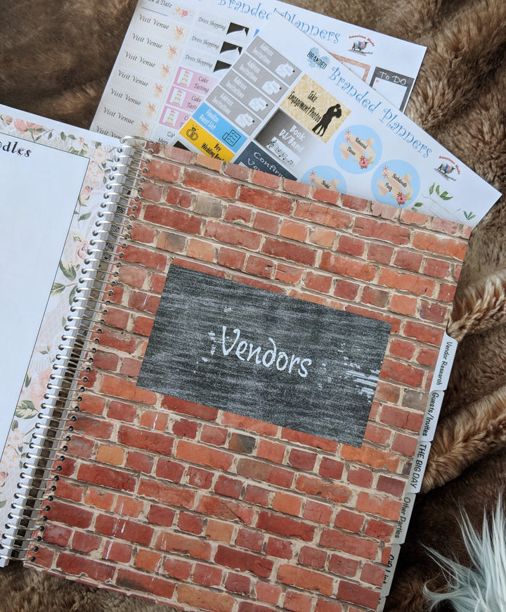 Farmhouse Chic Wedding Planner Branded Planners