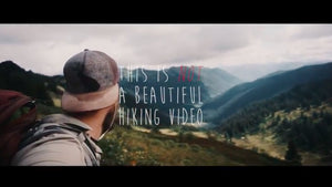 This is not a beautiful hiking video