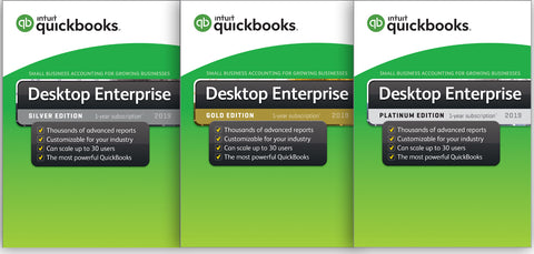 QuickBooks Enterprise Silver, QuickBooks Enterprise Gold, QuickBooks Enterprise Platinum