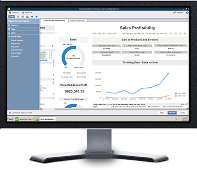 QuickBooks Enterprise Advanced Reporting Save time with auto-filled template reports