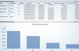 QuickBooks Enterprise Advanced Reporting Paid Invoices by Sales Rep