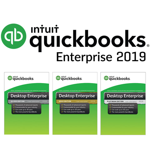 QuickBooks Enterprise 2019 Silver Gold Platinum Hosted