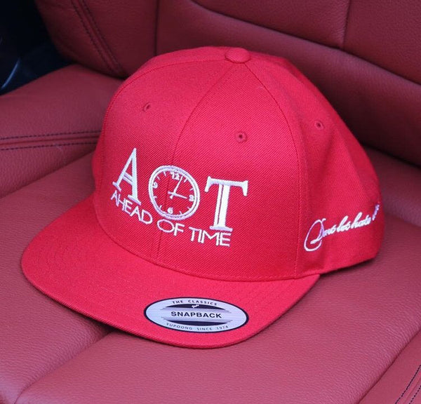 Ahead of Time Red Snapback Cap