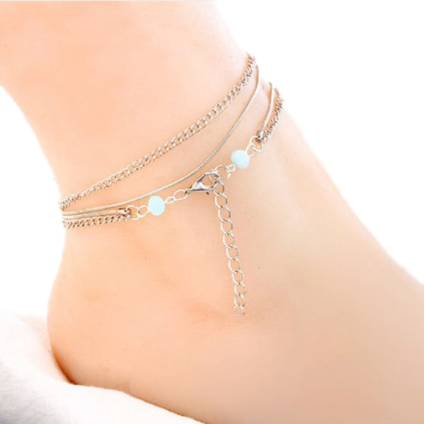 Wonder Weight Loss Magnet Multi-layers Beads Pendant Anklet