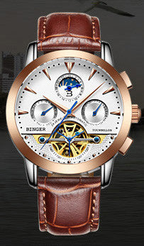 2016 Switzerland luxury Men's Watch BINGER Brand Full stainless steel B1188-6