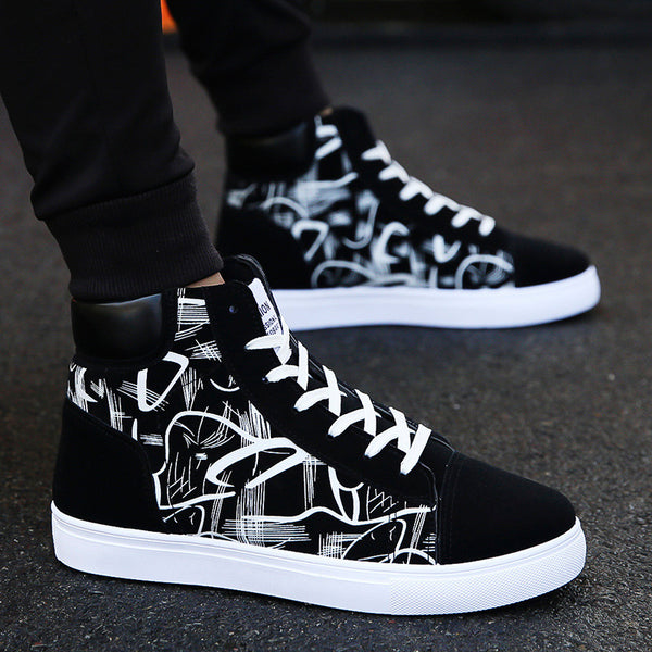 Black and White Funky Arty Sneakers for Men