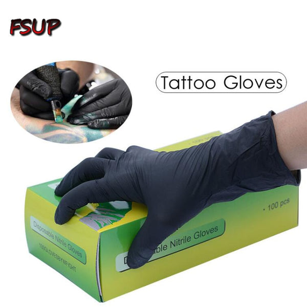 100 pcs disposable nitrile Gloves